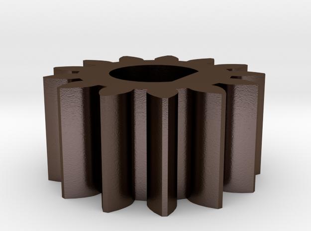 RepRap 3D Printer Mendel Filament Small Gear in Polished Bronze Steel
