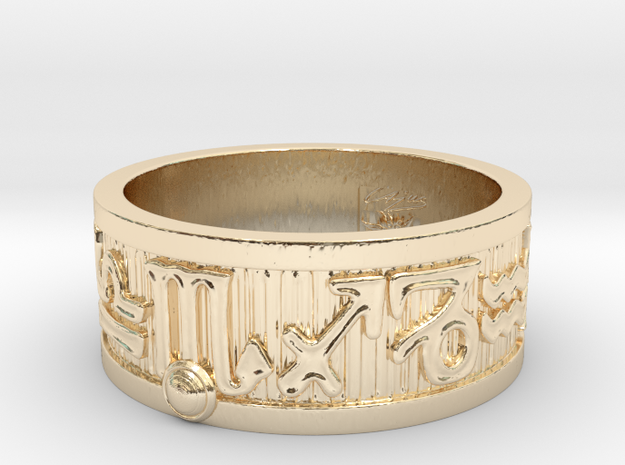 Zodiac Sign Ring Scorpio / 21.5mm in 14k Gold Plated Brass