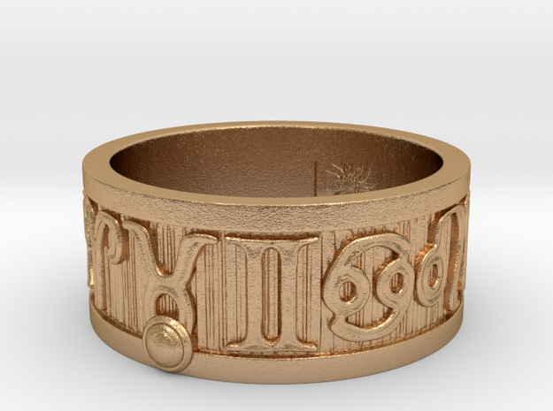 Zodiac Sign Ring Taurus / 20.5mm in Natural Bronze