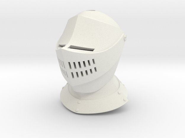 Basic Armet (For Crest) in White Natural Versatile Plastic: Small