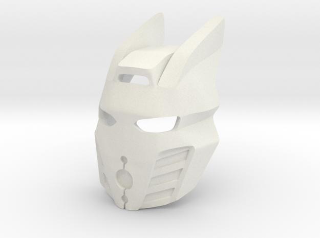 Kanohi Pakari, Killer Queen Variant in White Natural Versatile Plastic