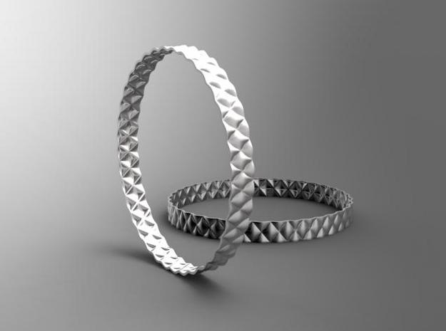BumpBangle | silver 3d printed [computer generated image]