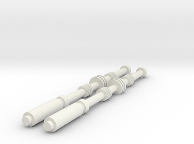 ESB RotJ Vader Chest Rods in White Natural Versatile Plastic