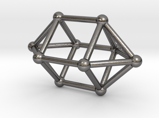 0759 J15 Elongated Square Dipyramid (a=1cm) #2 in Polished Nickel Steel