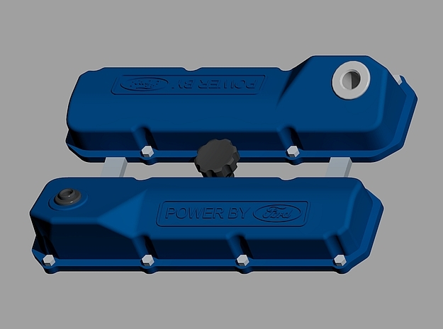 1/24 Ford 351 C valve covers in Smoothest Fine Detail Plastic