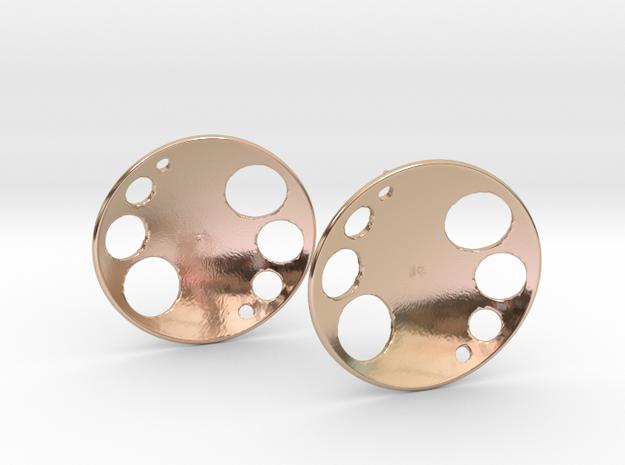 Luna Stud Earrings in 14k Rose Gold Plated Brass