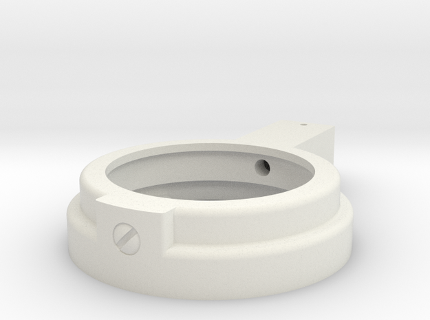 MG08/15 Maxim Steamport Lock ring in White Natural Versatile Plastic