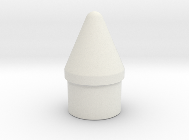 Rocket Nose Cone - Type A - 29mm in White Natural Versatile Plastic