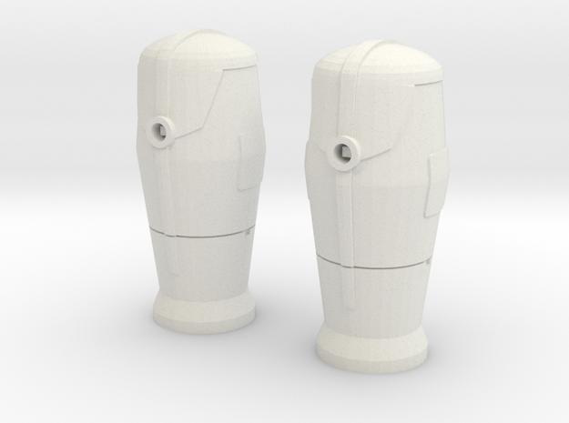 1 / 43 Bornes d'incendie / Fire hydrant X 2 in White Natural Versatile Plastic
