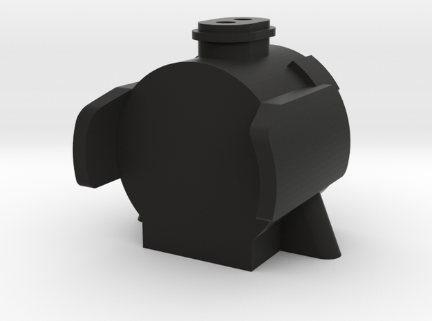 TWR A3 Double Chimney Smokebox in Black Natural Versatile Plastic