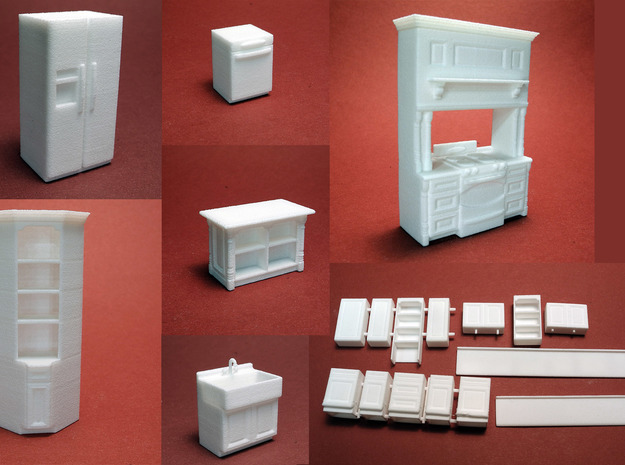 1:48 Modern Farmhouse Kitchen in White Natural Versatile Plastic