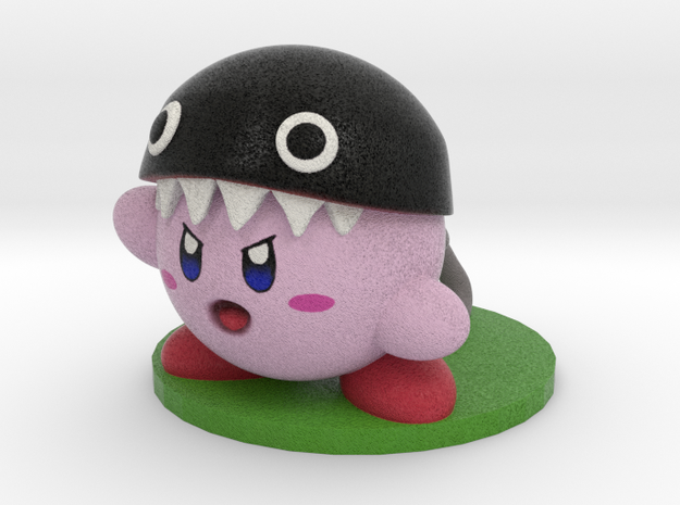 ChainChomp Kirby!! in Natural Full Color Sandstone