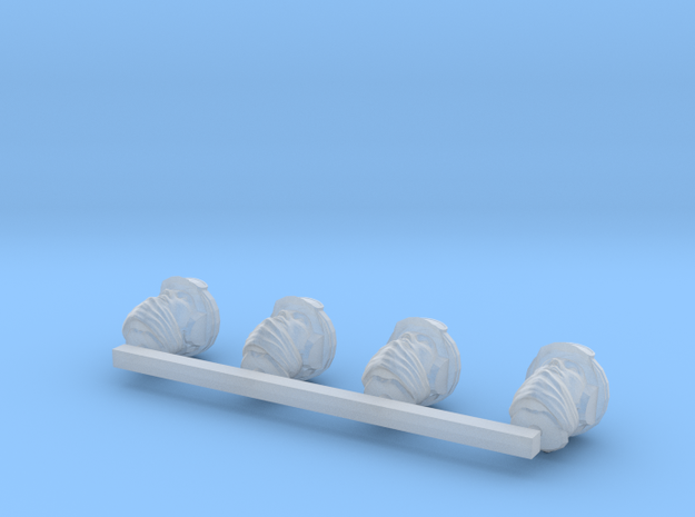 Human Males with RH, HG, and NB in Smooth Fine Detail Plastic
