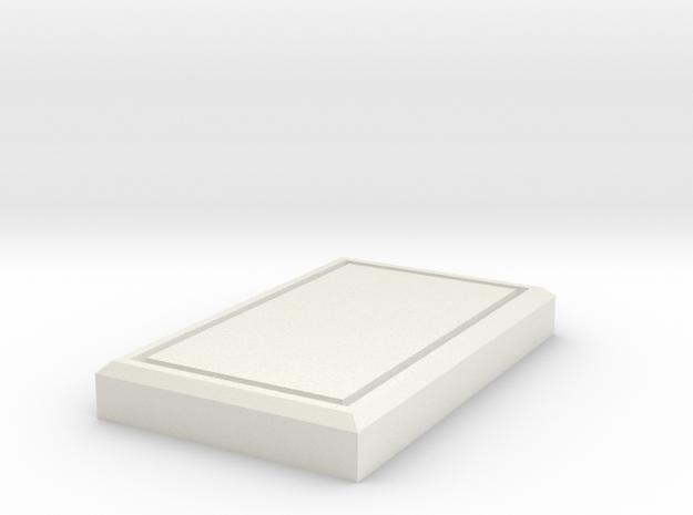 Beast Boy Belt Rectangles in White Natural Versatile Plastic