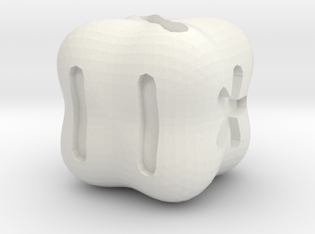 knucklebone Die in White Natural Versatile Plastic