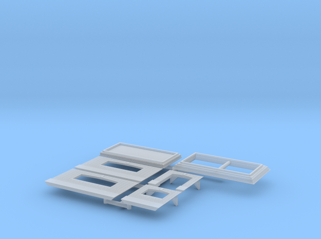 Station Subway Entrance in Smooth Fine Detail Plastic