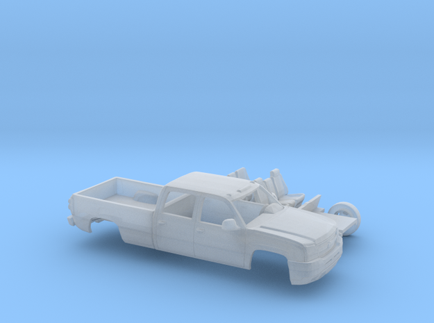 1/160 2003-06 ChevySilverado1500 CrewCabLongBedKit in Smooth Fine Detail Plastic