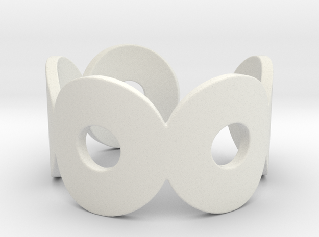 Hugs Ring in White Natural Versatile Plastic
