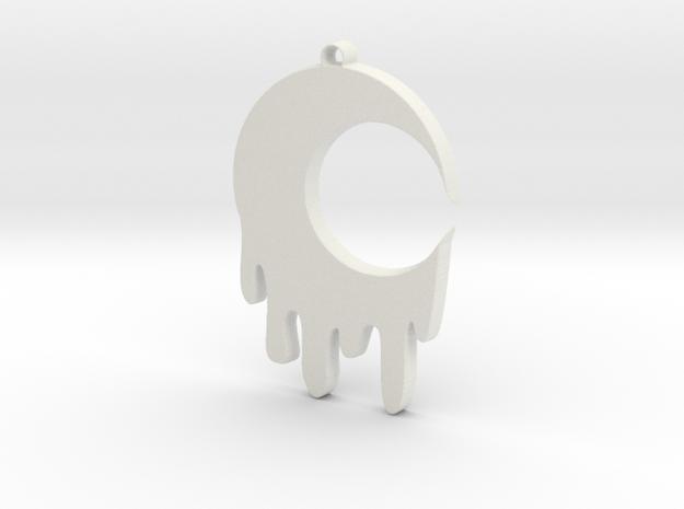Bleeding Moon Pendant in White Premium Versatile Plastic
