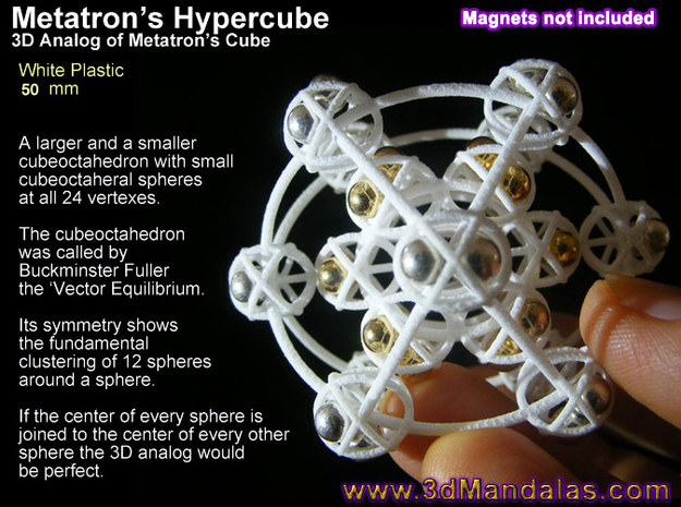 3D Metatron's Sphere: based on Metatron's Cube 3d printed Magnets are 4mm neodymium from ebay