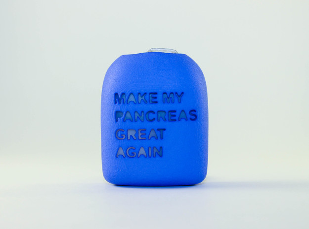 Make My Pancreas Great Again - Omnipod Pod Cover in Blue Processed Versatile Plastic