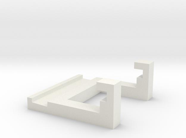 PCI-e Riser Lock in White Natural Versatile Plastic