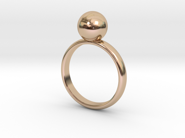 Single Ball Ring in 14k Rose Gold Plated Brass: 6 / 51.5