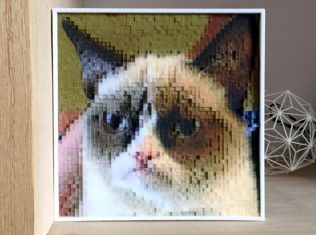 PhotoPixels | Turn photos into 3D pixel sculptures 3d printed much depth!