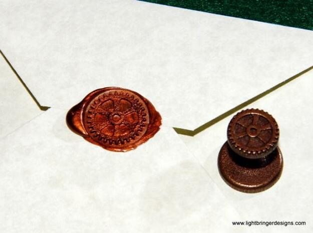 Gear Wax Seal in Matte Bronze Steel