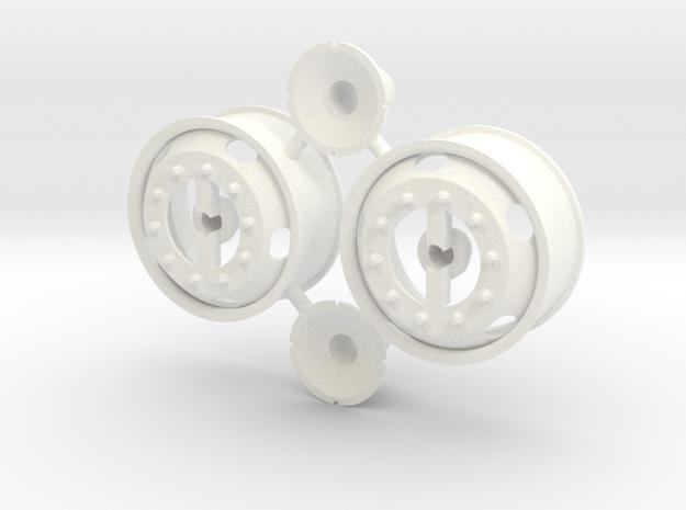 5-Hole Front Rims Generic  in White Processed Versatile Plastic