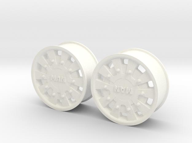 MAN TGA/X Normal Front Rim in White Processed Versatile Plastic