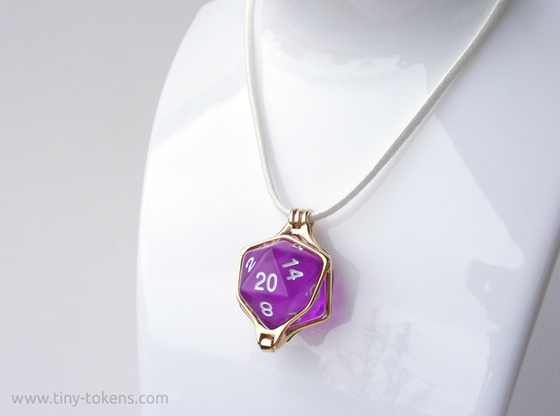 Dice Pendant - D20 20mm