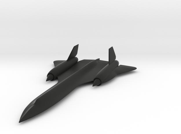 Sr-71 Blackbird in Black Natural Versatile Plastic