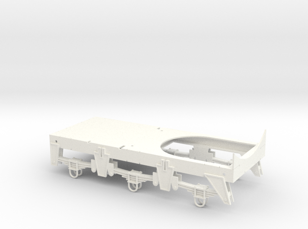 Chassis for Retro Euro Bulk Tanker in White Processed Versatile Plastic