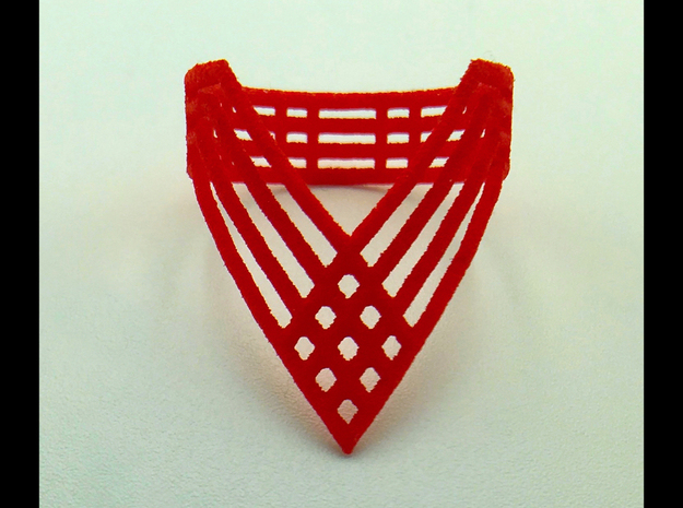 """Vector Ring""  (Tall) Size: 7 in Red Processed Versatile Plastic"