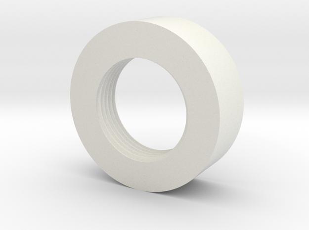 "1"" GX16 Hilt Adapter in White Natural Versatile Plastic"
