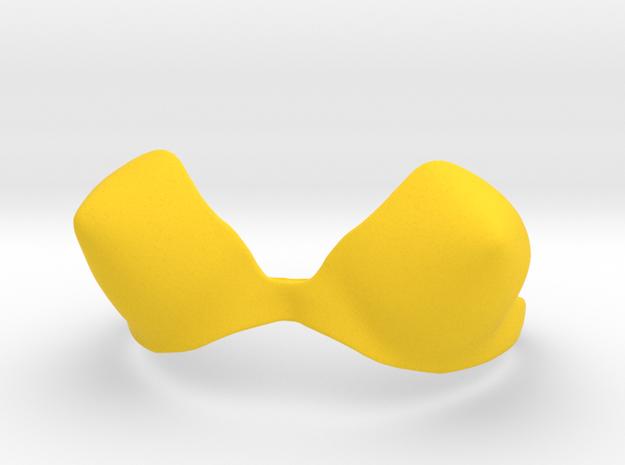 Bullet Bra in Yellow Processed Versatile Plastic: Small