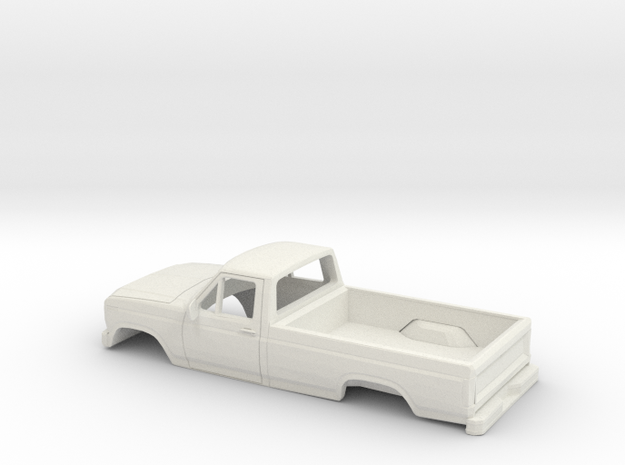 1/32 1984 Ford F Series in White Natural Versatile Plastic
