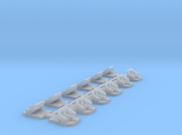 12 Supports de rail (V ou DC) in Smooth Fine Detail Plastic