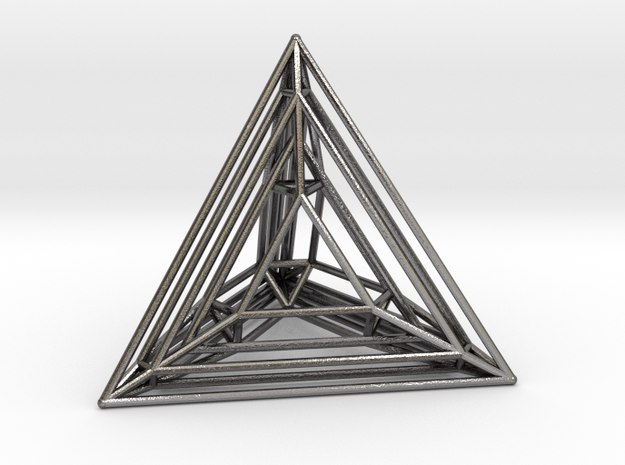 Tetrahedron Experiment in Polished Nickel Steel