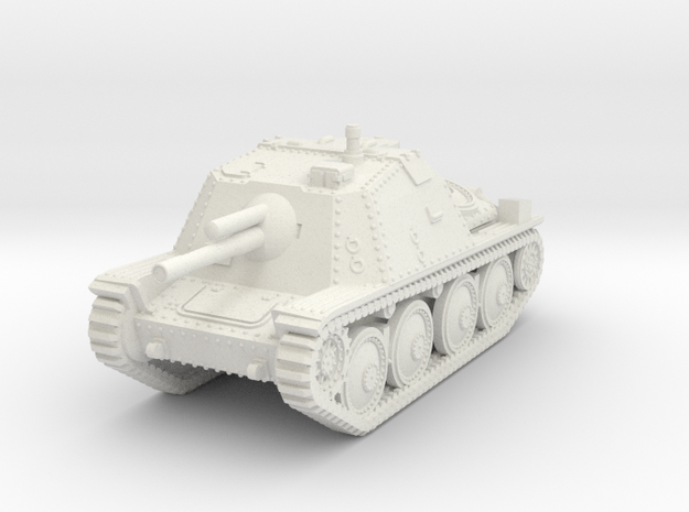 1/72 Sav M/43 Swedish SPG in White Natural Versatile Plastic
