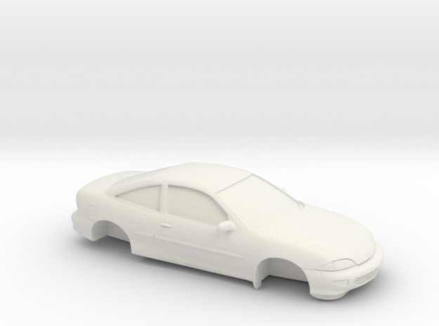 1/25 1998 Chevrolet Cavalier Coupe in White Natural Versatile Plastic