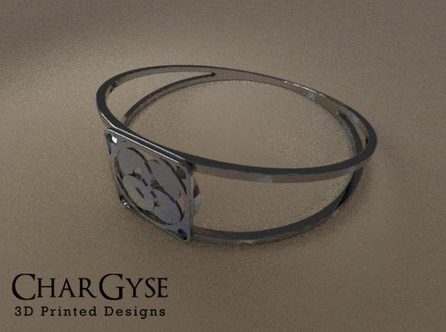 Elegant Bangle - Four Petals Bound 3d printed Rendered in Blender