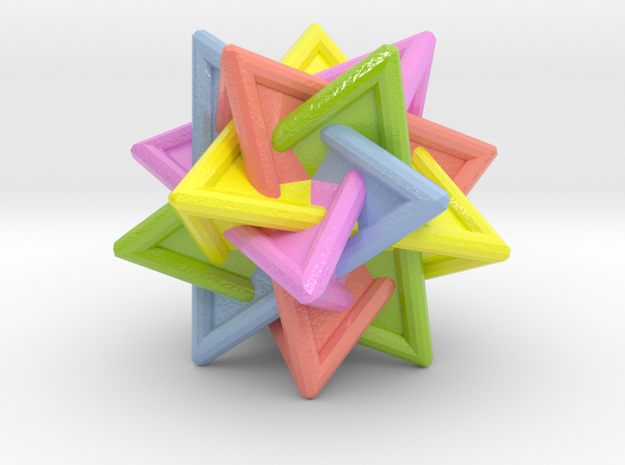 Tetrahedra Compound in Glossy Full Color Sandstone