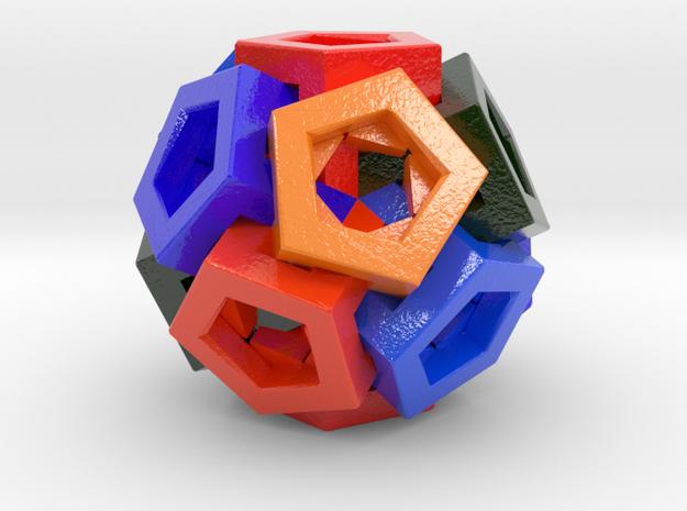 Pentagonal Crystals in Glossy Full Color Sandstone