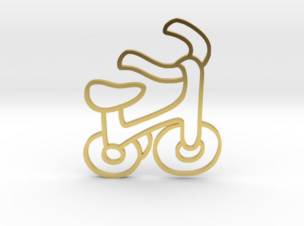 cycle pendent in Polished Brass