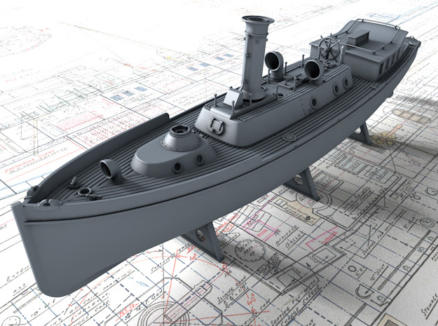 1/144 Royal Navy 50ft Steam Pinnace x1 in Smooth Fine Detail Plastic