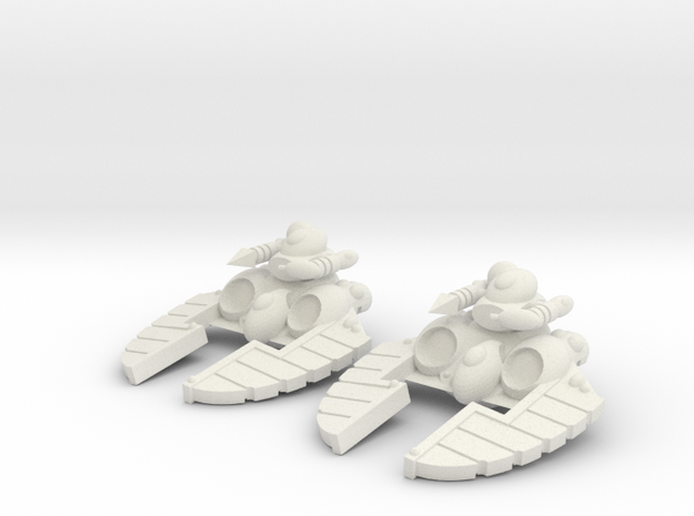 Space Elf - Crystal Blaster Turret in White Natural Versatile Plastic