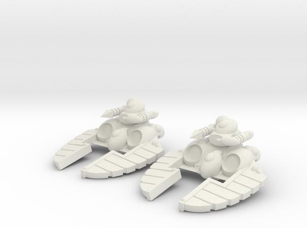 Space Elf - Crystal Blaster Turret in White Natural Versatile Plastic