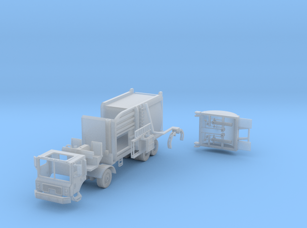 Garbage Truck Side Load 1-87 HO Scale in Smooth Fine Detail Plastic